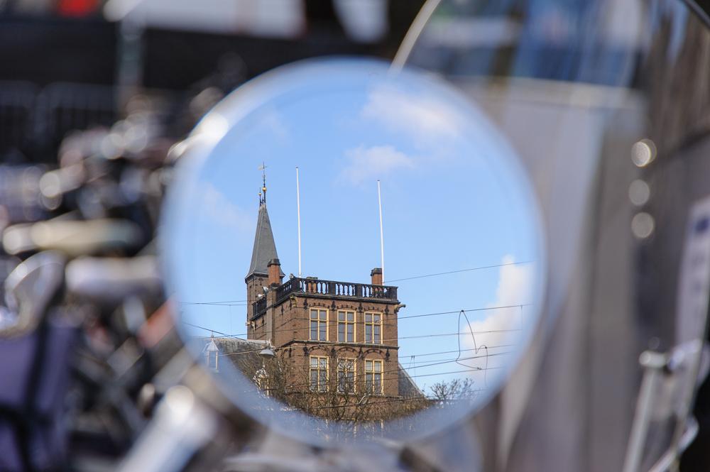 Binnenhof Den Haag in weerspiegeling