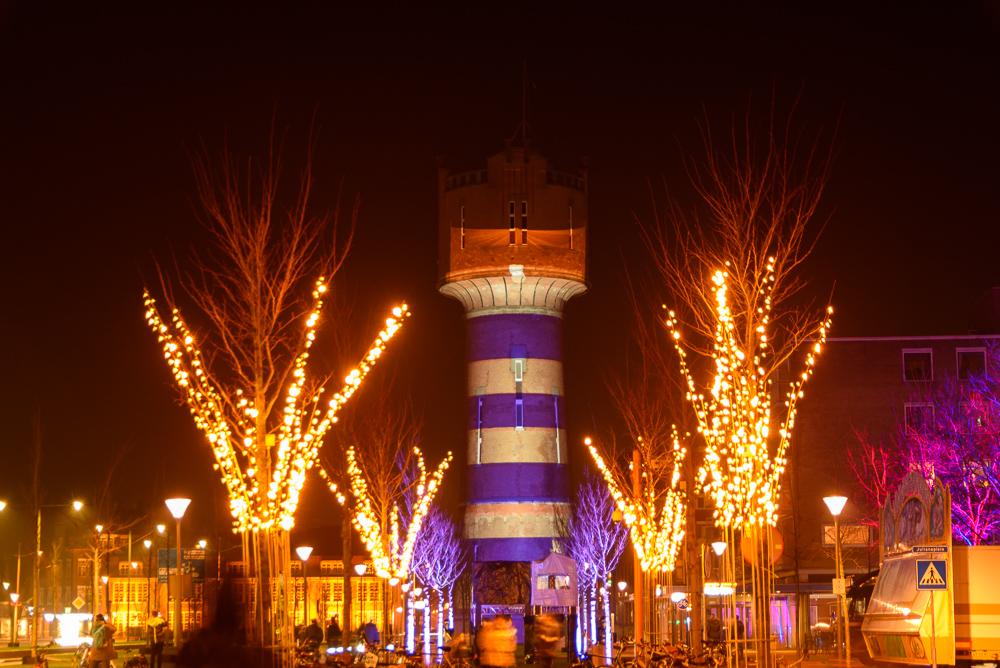 watertoren den helder, helder licht, projectie