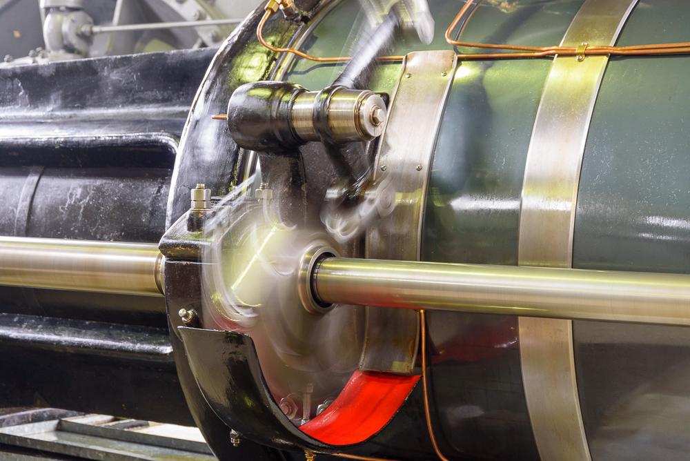 eicenter voor kleppenmechanisme stoommachine Ir. D.F. Woudagemaal