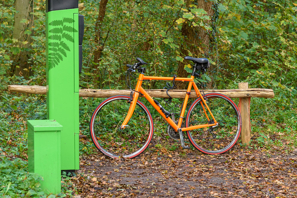 geparkeerde fiets in bakkums duin.