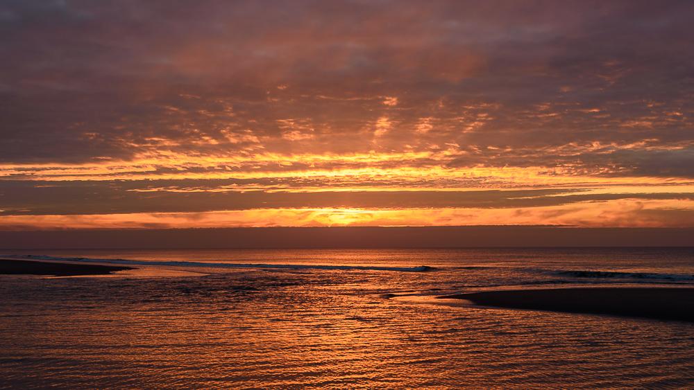 zonsondergang op de koog texel