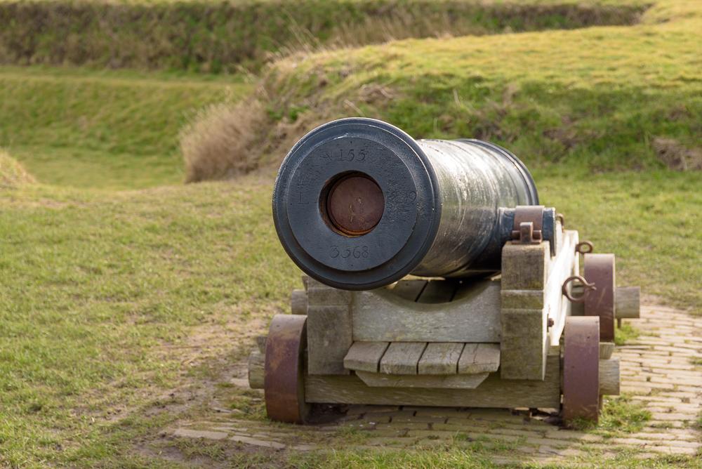 kanon op fort de schans, texel
