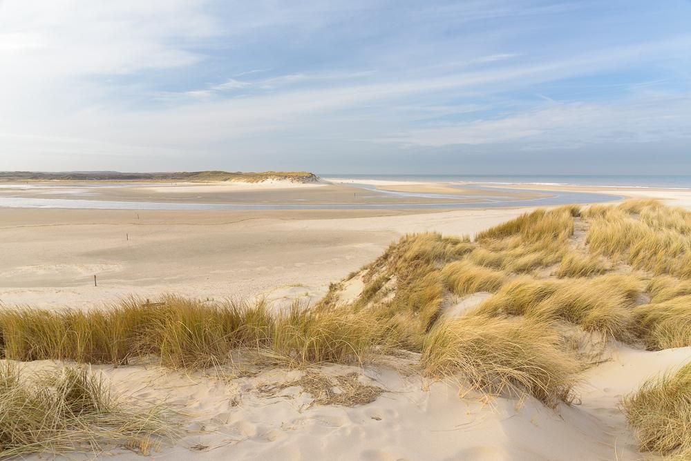 Texel's strand ten noorden van de slufter
