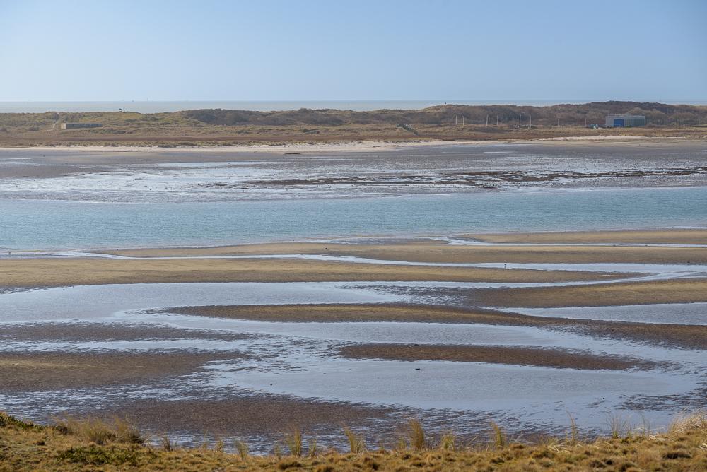 laagwater in de mokbaai texel